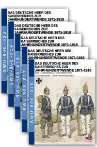 Das Deutsche Heer des Kaiserreiches zur Jahrhundertwende 1871-1918 – 5 volumes