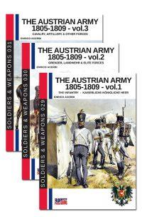 The Austrian army 1805-1809 – BOX 3 volumes